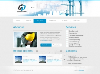 DP Construction / web design & development