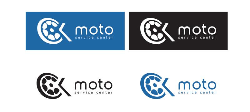 CK Moto logo - variants