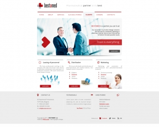 Bestamed / Web design